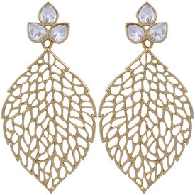 Pink Rose - Complement Collection Gold Alloy Magic Leaf Drops For Women