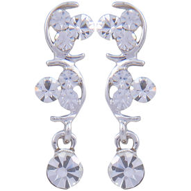 Pink Rose - Complement Collection Silver Alloy Princess Love Drops For Women