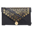 Pink Rose - Statement Collection Black Gold Charm Sling Bag