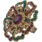 Pink Rose - Complement Collection Purple Green Alloy Fascinating Ring For Women