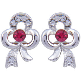 Pink Rose - Complement Collection Pink Silver Alloy Princess Delight Studs For Women
