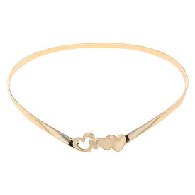 Pink Rose - Complement Collection Gold Alloy Hearts Charm Belt For Women, free, gold, alloy