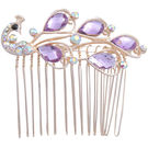 Pink Rose - Complement Collection Purple Alloy Princess Delight Hair Clip For Women