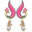 Pink Rose - Complement Collection Pink Pearl Alloy Mayur Drops For Women