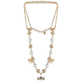 Pink Rose - Complement Collection Gold White Pearl Alloy Princess Charm Anklet For Women