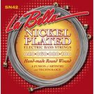 La Bella SN42 hand-made round wound Nickel plated Electric bass strings 40-100