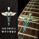 Caduceus(Snakes on a sword) Fret Markers Inlay Sticker For Guitar