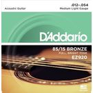 D'Addario EZ920 Acoustic Guitar Strings 85/15 Bronze. 012-. 054 Set