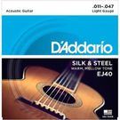 D'Addario EJ40 Acoustic Guitar Strings Silk & Steel Set