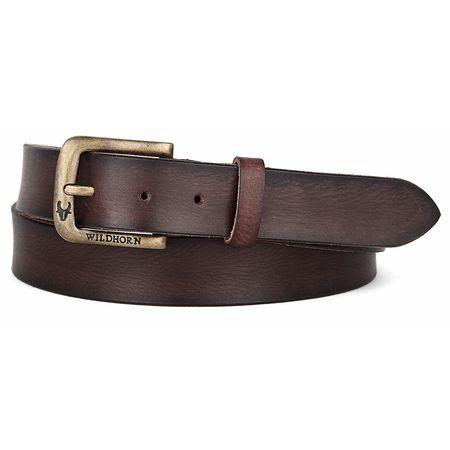 WildHorn Casual 100% Genuine Leather Belt for Men, 36