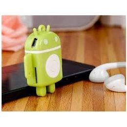 Original Android Robot Style Portable MP3 Player Music Player with TF Card Slot