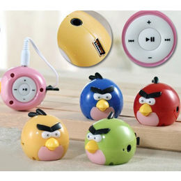 Robot Original Angry Birds MP3 Player with Ear Phone and USB cable
