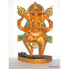 Craftsgallery Dancing Ganesha Painted 2, 6 inches