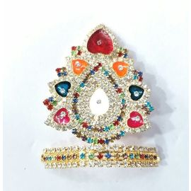 Designer Diamond And Stone Work Mukut For Bal Gopal / Mukut For Laddu Gopal