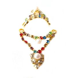 Beautiful Diamond Mukut Mala Set For Bal Gopal/ Laddu Gopal shringar