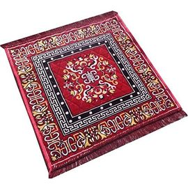 Handloom Red Pooja Mat / Prayer Mat / Velvet Pooja Aasan - 2 Pcs