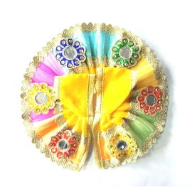 Kanch Work Flower Poshak For Bal Gopal / Designer Poshak For Thakurji ( 2 No)
