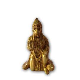 Brass Sitting Hanuman Statue / Brass Murti / Hanuman Murti / Pooja Statue
