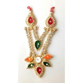 Designer Heavylook Diamond Work Neckless For Laddu Gopal / Haar For Bal Gopal