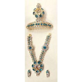Designer Diamond Stone Work Jewellery Set For God / Laddu Gopal Shringar Set