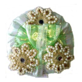 Laddu Gopal Pearl Embroidered Silk Poshak Heavy Work Dress ( 1 No. )
