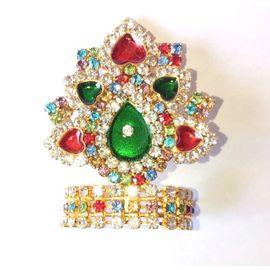 Designer Diamond Work Mukut For God / Mukut For Thakurji / Mukut For Bal Gopal