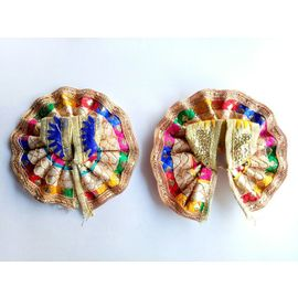 2 Pcs Bal Gopal MultiColor Beautiful Poshak