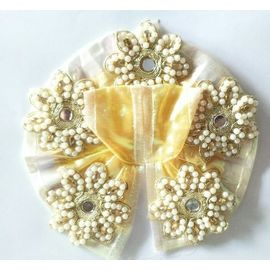 Beautiful Moti Flower Work Poshak For Laddu Gopal / Poshak For Thakurji