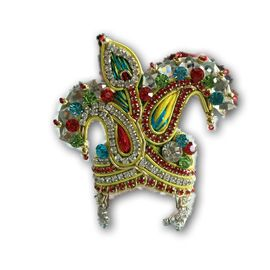 Beautiful Zari Work Mukut For Laddu Gopal / Bal Gopal Mukut Shringar For Bal Gopal (6 No)