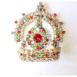 Designer Diamond Work Mukut For Bal Gopal / Shringar For Thakurji