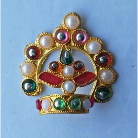 Moti And Stone Work Mukut For Laddu Gopal / Bal Gopa Mukut Shringar