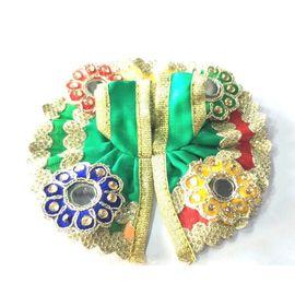 Designer Kanch Work Poshak For Bal Gopal / Laddu Gopal Poshak