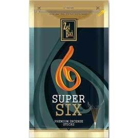 Zed Black Super Six Premium Incense Stick Set Of 2 Zipper