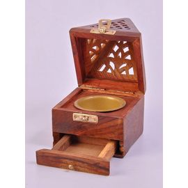 Wooden Handicrafted Dhoop Box/Dhoop Burner Special Dhoop Box