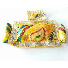 Bandhej Work Aasan For Laddu Gopal / Singhasan Aasan For Thakurji