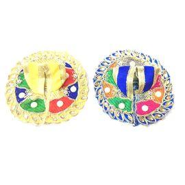 Designer Thakur ji Poshak / Multicolour Moti Work Poshak For Bal Gopal ( 0 No) - 2 Pcs