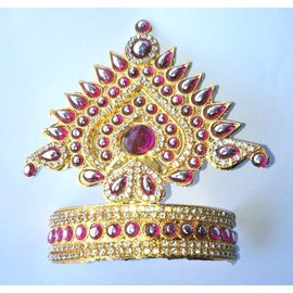 Shringar Mukut For Laddu Gopal / Mukut For Thakurji / Mukut For Bal Gopal