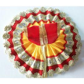 Small Flower Lace Poshak For Laddu Gopal Shringar / Bal Gopal Poshak