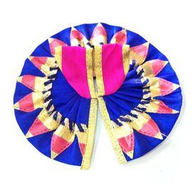 Designer Gota Work Poshak / Flower Design Poshak For Laddu Gopal ( 2 No)