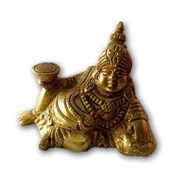 Beautiful Brass Lord Kuber Statue/ Brass Statue / Kuber Murti