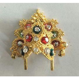 Mukut For Thakurji / Colourful Diamond Work Mukut For Laddu Gopal
