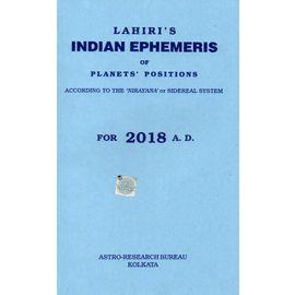 Lahiri's Indian Ephemeris Of Planets' Position 2018