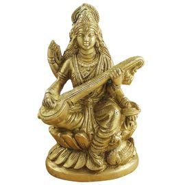 Beautiful Saraswati Maa Brass Statue / Saraswati Mata Murti / Devi Saraswati Goddess Of Knowledge
