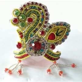 Classic Zari Work Mukut For Laddu Gopal Shringar / Designer Mukut (8 No)