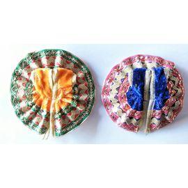 Designer Poshak For Laddu Gopal Shringar / Beautiful Poshak For Bal Gopal - 2 Pcs