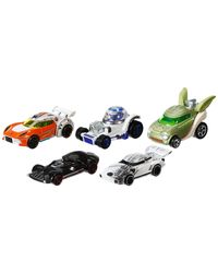 Hot Wheel CGX36 5 Pack Star Wars Character Car, Multi Color