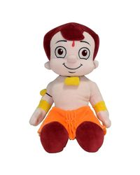 Chhota Bheem Plush Toy - Sitting Pose, Yellow/Orange (30cm)