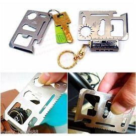 Multi-Purpose 11-in-1 Black Stainless Steel Pocket Survival Tool Wallet Ninja
