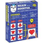 Play Panda Brain Booster Type 2 - 56 puzzles designed to boost intelligence - with Magnetic shapes, Magnetic board, Puzzle book and Solution book