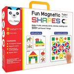 Fun Magnetic Shapes (junior) : Type 1 with 44 magnetic shapes, 164 pattern book, magnetic board and display stand